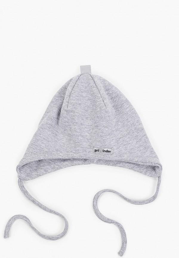 шапка prikinder для девочки, серая