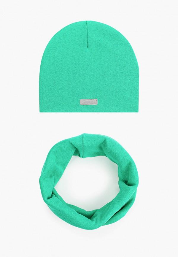 шапка prikinder для девочки, зеленая