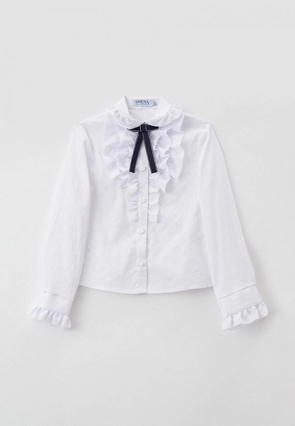 блузка smena для девочки, белая