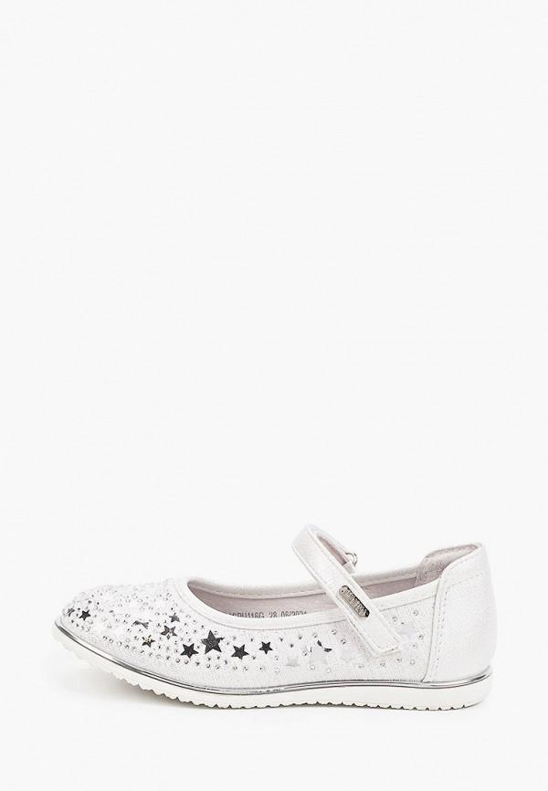 туфли mursu для девочки, серебряные