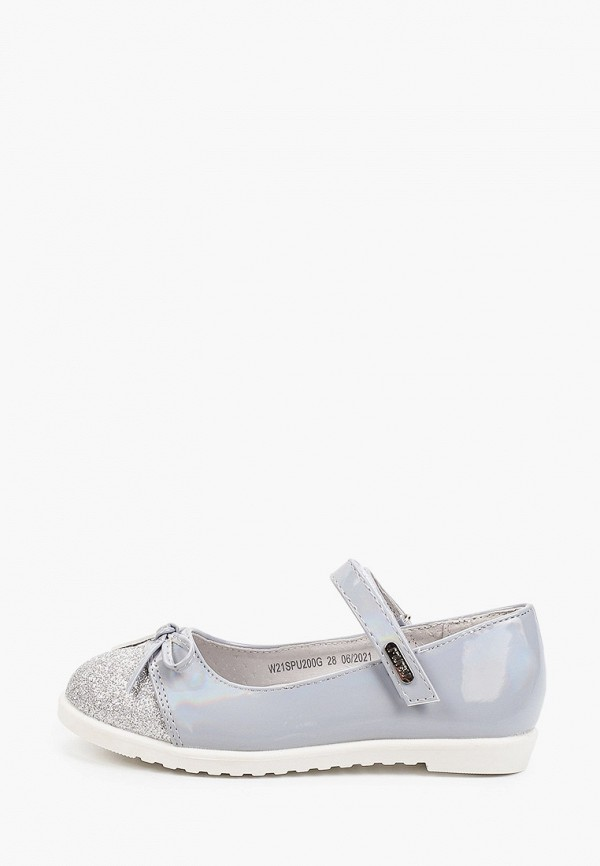 туфли mursu для девочки, серые