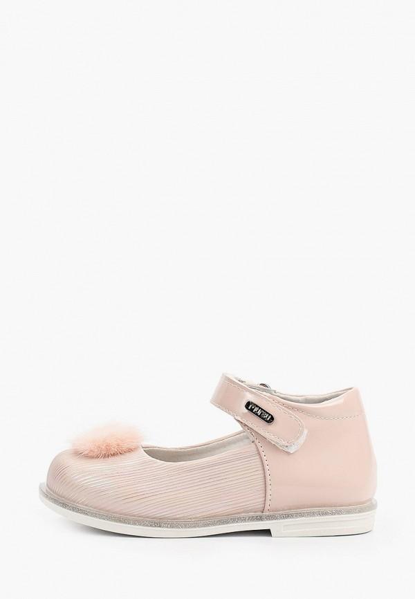 туфли mursu для девочки, бежевые