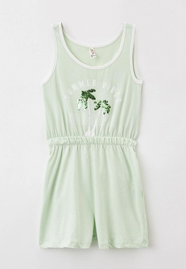 комбинезон с брюками defacto для девочки, зеленый