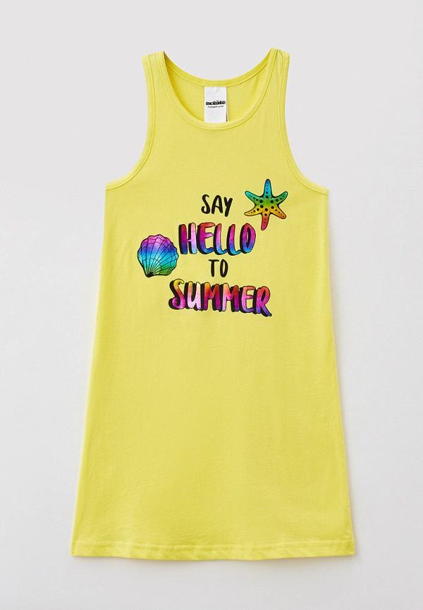 сорочка ночная acoola для девочки, желтые
