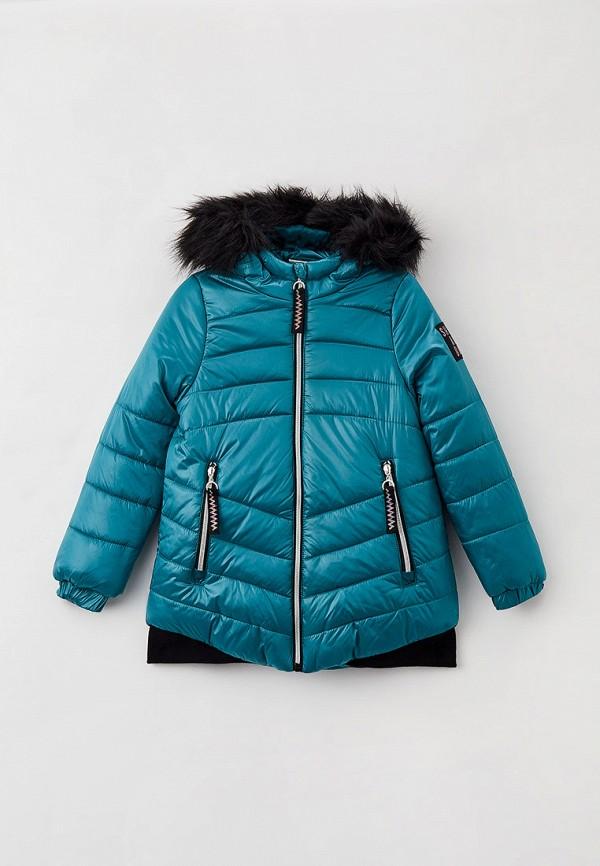 утепленные куртка coccodrillo для девочки, синяя