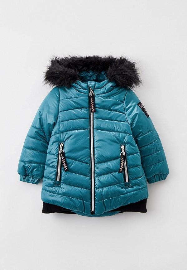 утепленные куртка coccodrillo для девочки, бирюзовая