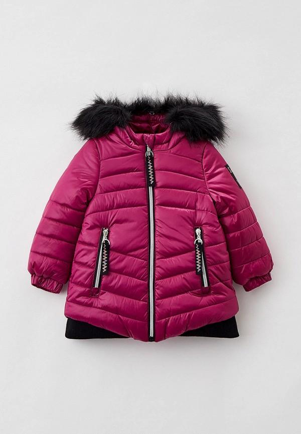 утепленные куртка coccodrillo для девочки, розовая