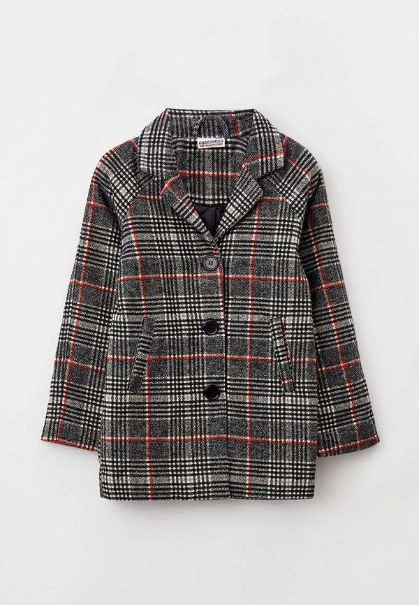 пальто coccodrillo для девочки, разноцветное