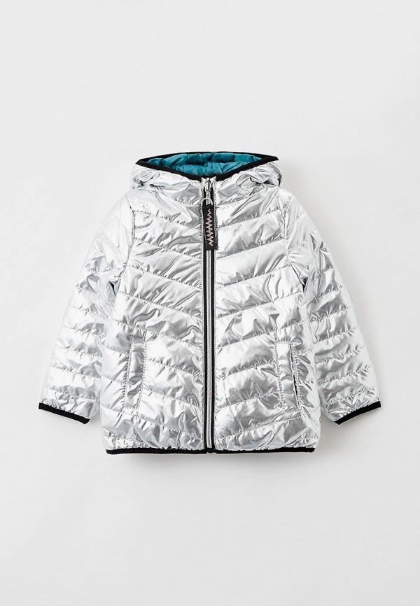 утепленные куртка coccodrillo для девочки, разноцветная