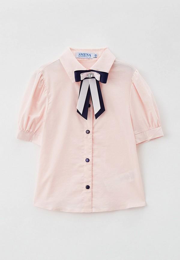 блузка smena для девочки, розовая