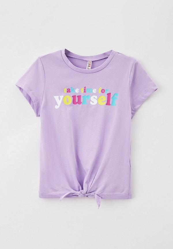 футболка с коротким рукавом defacto для девочки, фиолетовая