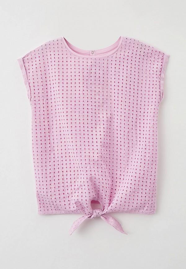блузка baon для девочки, фиолетовая