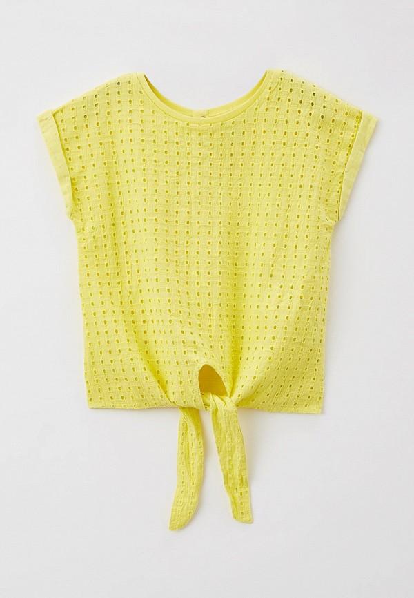 блузка baon для девочки, желтая