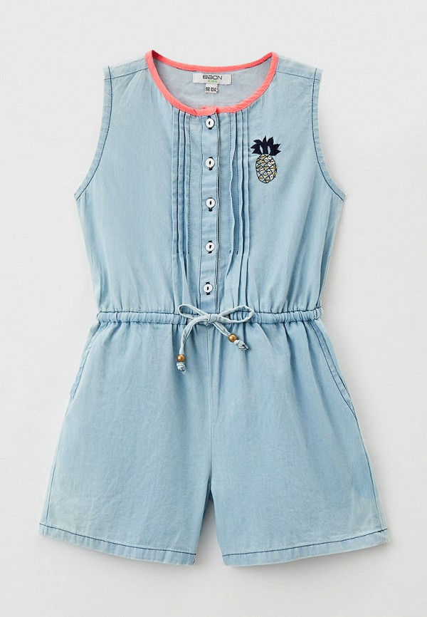 джинсовые комбинезон baon для девочки, голубой