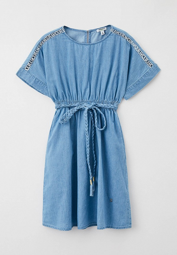 джинсовые платье baon для девочки, голубое