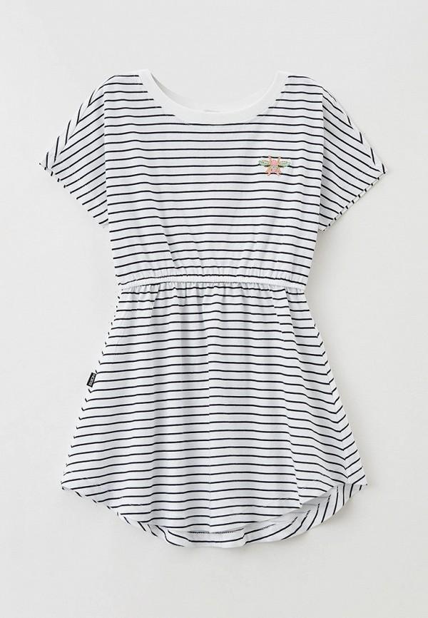 повседневные платье baon для девочки, белое