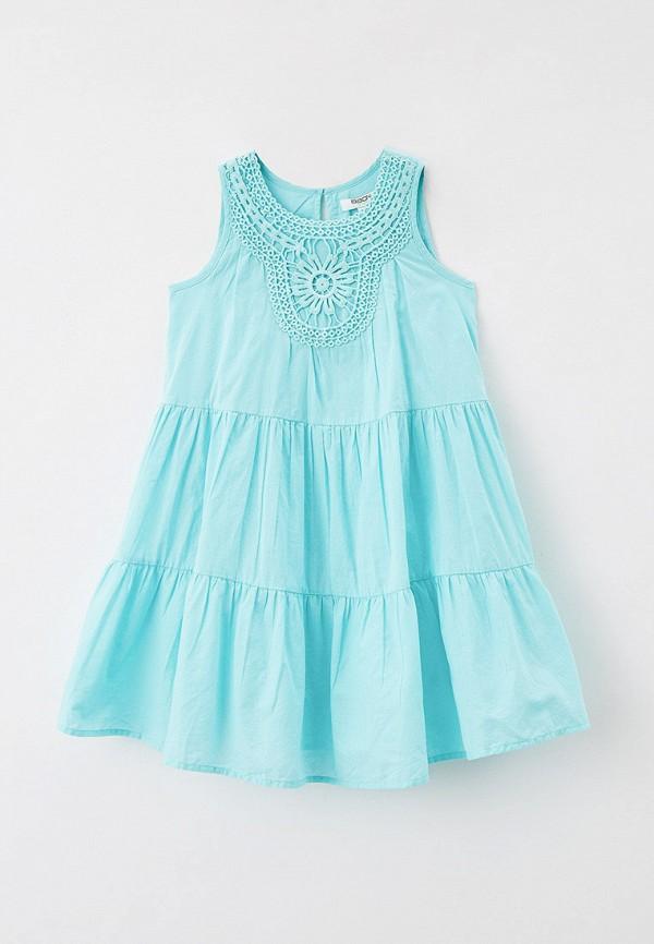 повседневные платье baon для девочки, бирюзовое