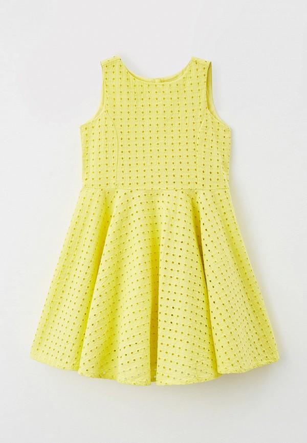 повседневные платье baon для девочки, желтое