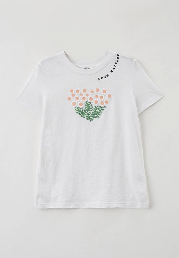 футболка с коротким рукавом baon для девочки, белая
