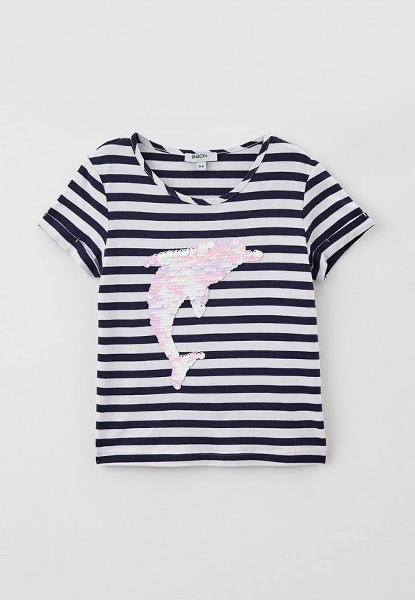 футболка с коротким рукавом baon для девочки, синяя