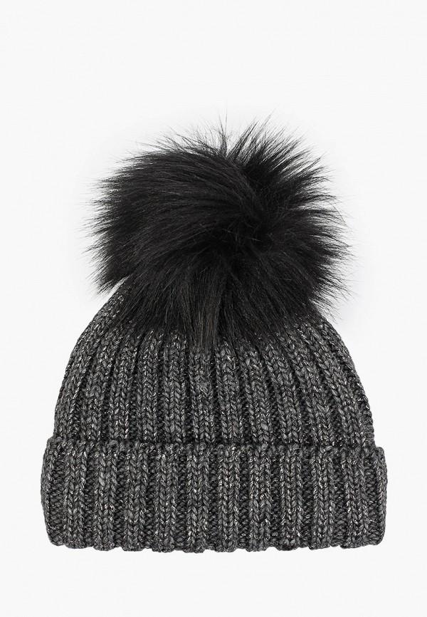 шапка coccodrillo для девочки, серая