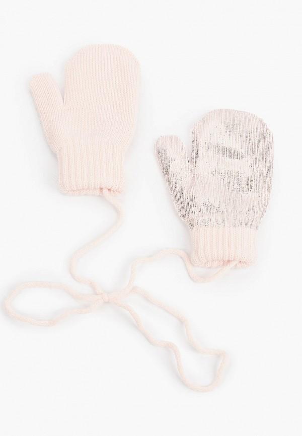 варежки coccodrillo для девочки, розовые