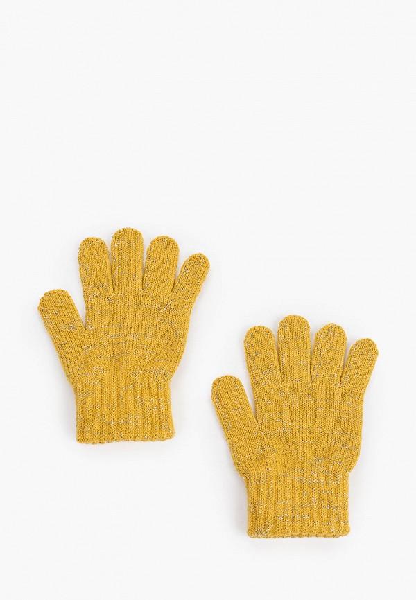 перчатки coccodrillo для девочки, желтые