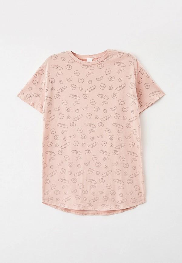 сорочка ночная sela для девочки, бежевые