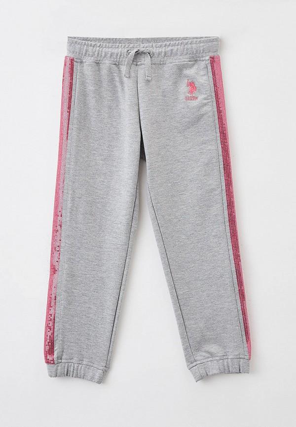 спортивные брюки u.s. polo assn для девочки, серые
