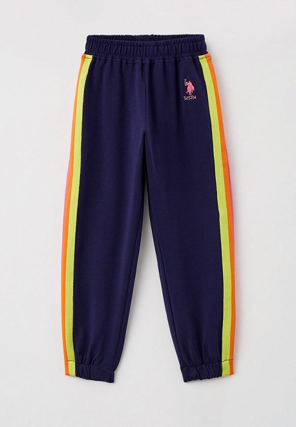 спортивные брюки u.s. polo assn для девочки, синие