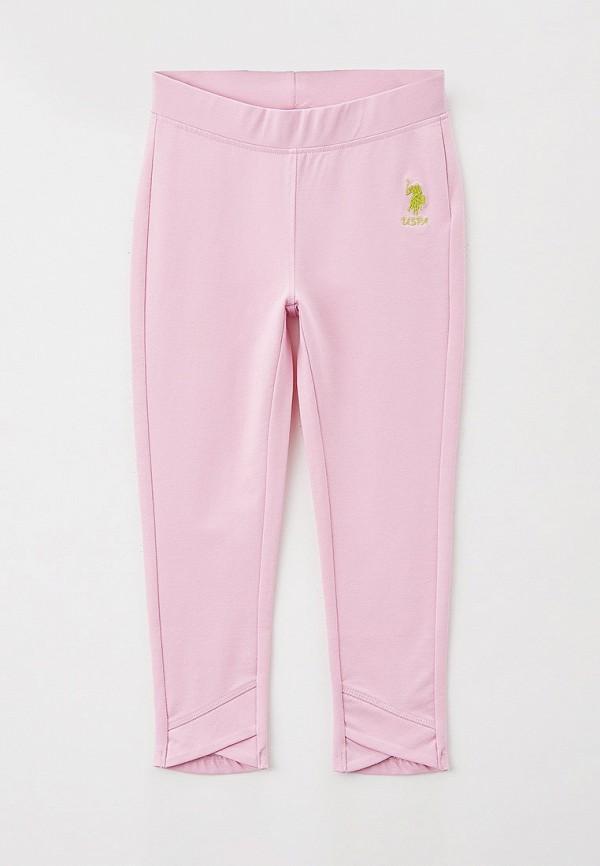 леггинсы u.s. polo assn для девочки, розовые