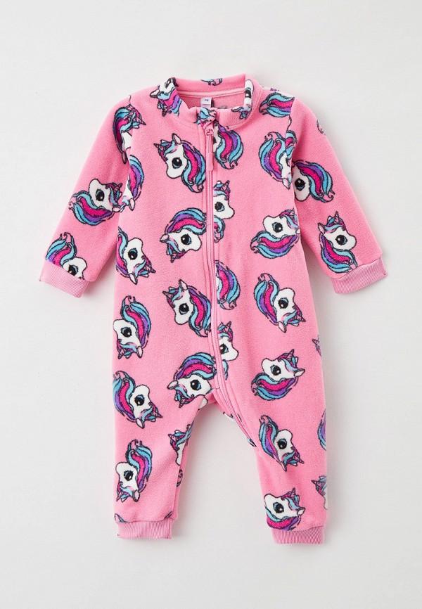 комбинезон с брюками playtoday для девочки, розовый