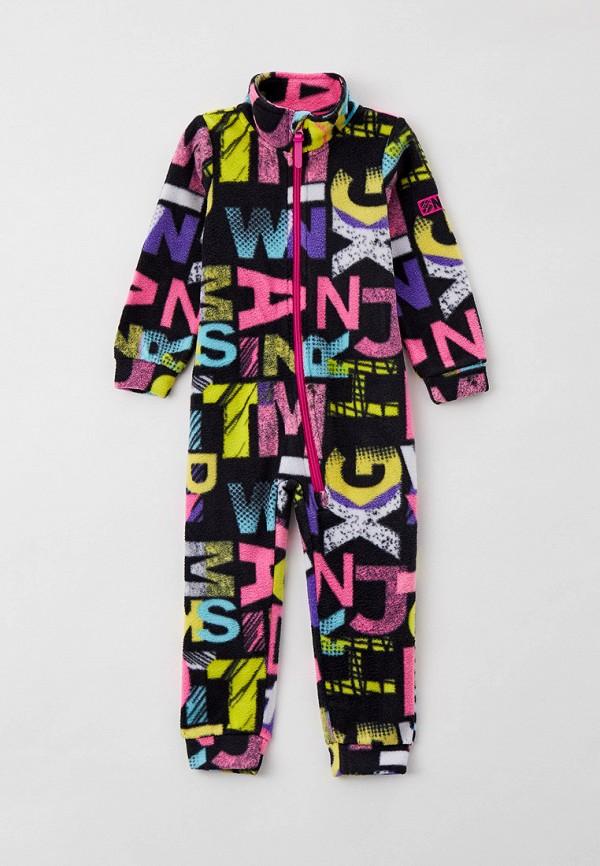 комбинезон с брюками playtoday для девочки, разноцветный