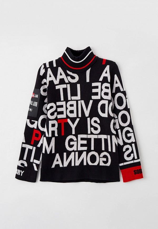 свитер playtoday для девочки, черный