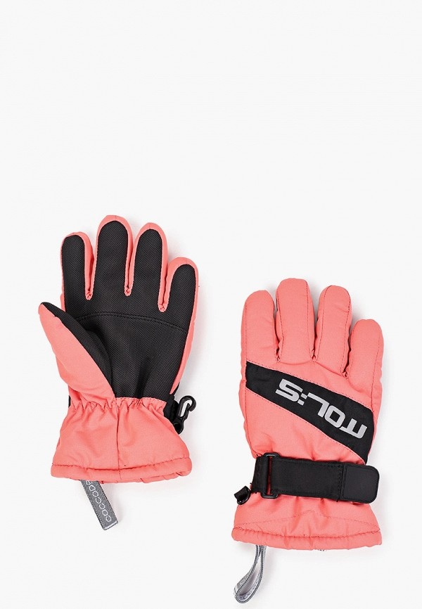 Перчатки Coccodrillo кораллового цвета