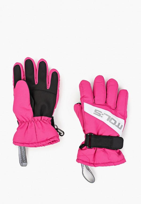 перчатки coccodrillo для девочки, розовые