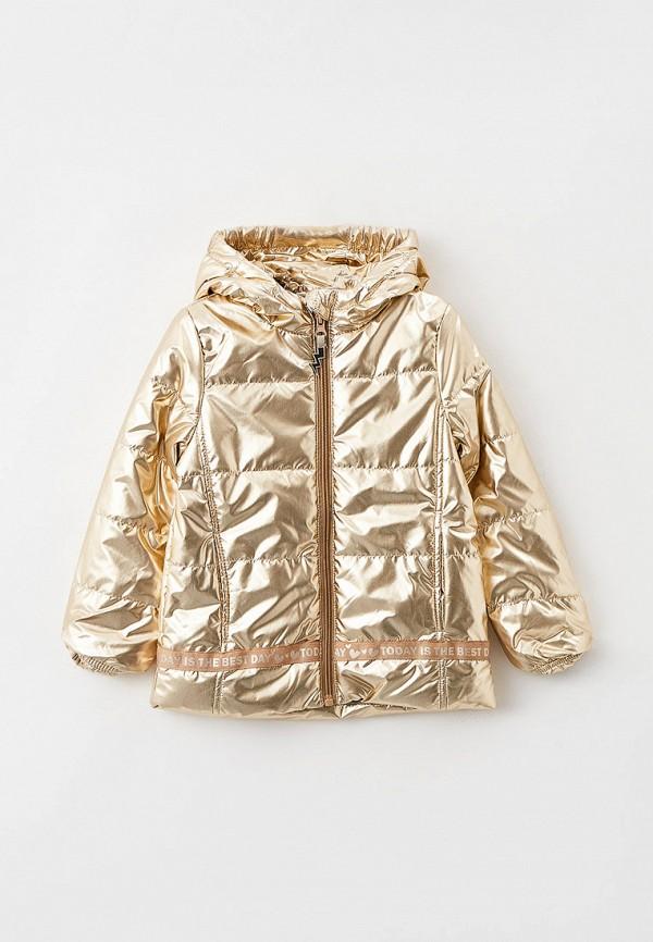 утепленные куртка coccodrillo для девочки, золотая