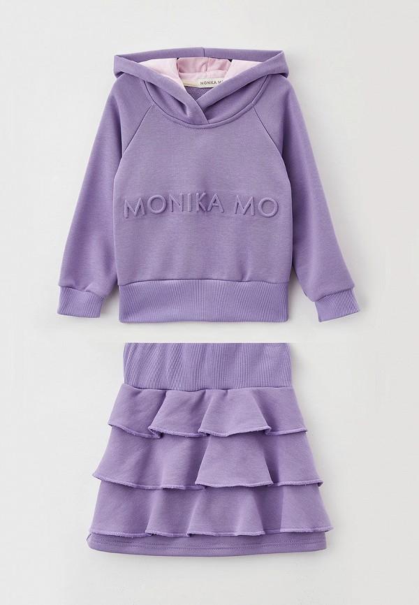 свитшот monikamo для девочки, фиолетовый