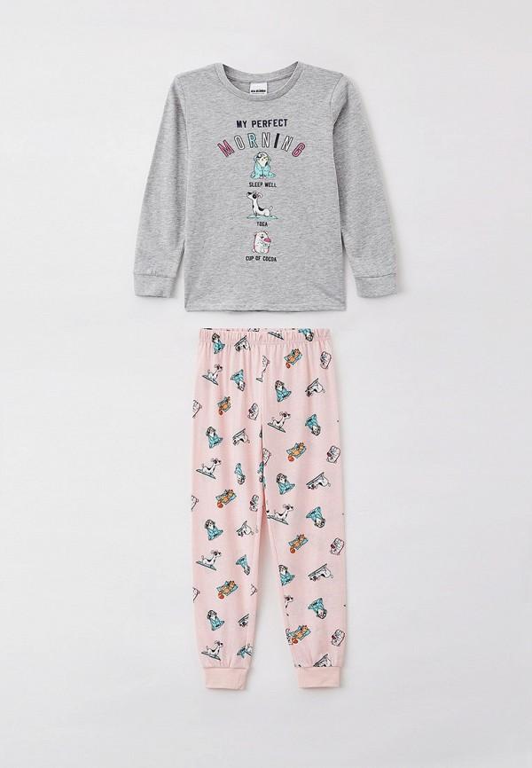 пижама acoola для девочки, разноцветная