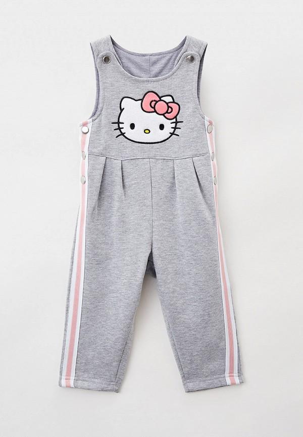 комбинезон с брюками playtoday для девочки, серый