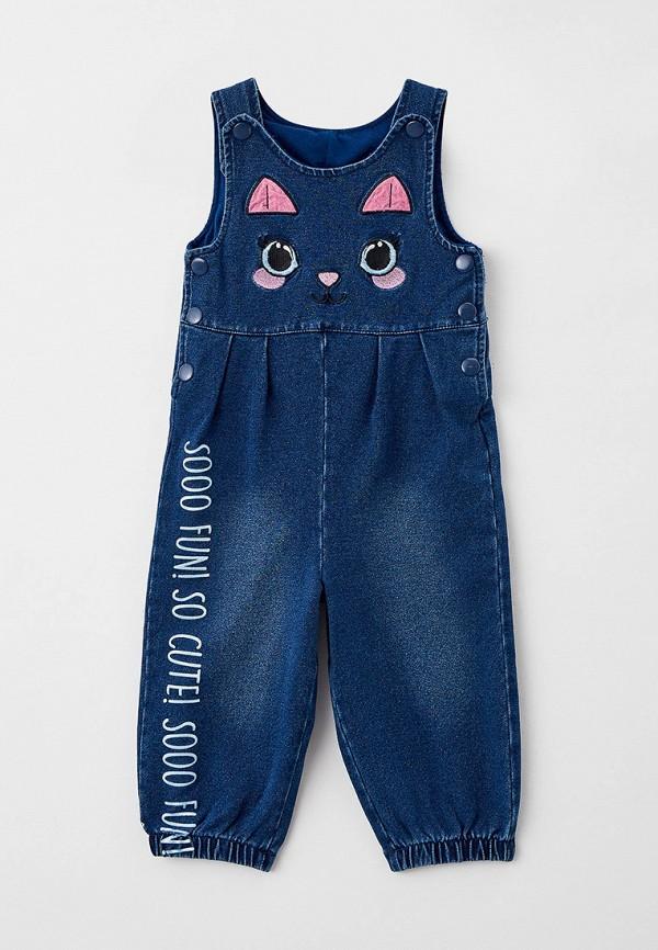 джинсовые комбинезон playtoday для девочки, синий