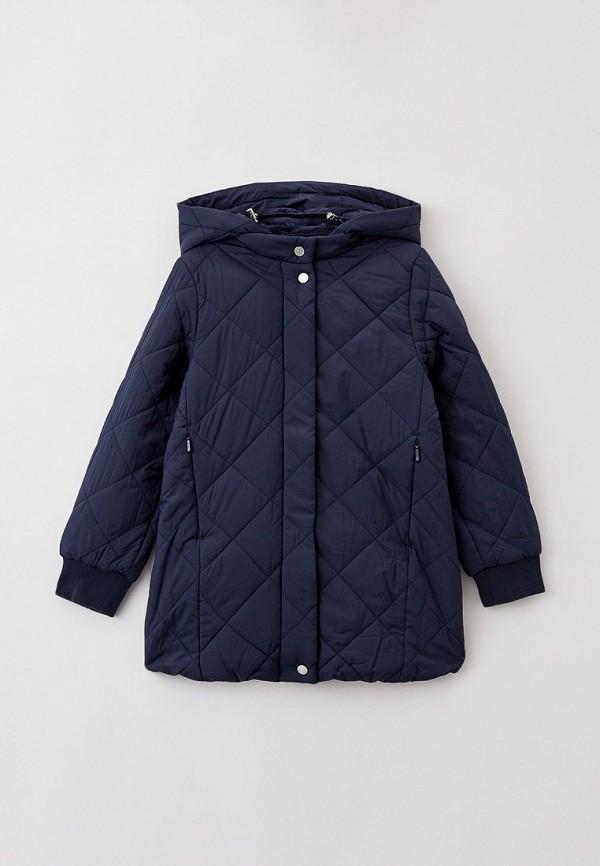 утепленные куртка baon для девочки, синяя