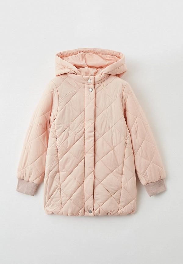 утепленные куртка baon для девочки, розовая