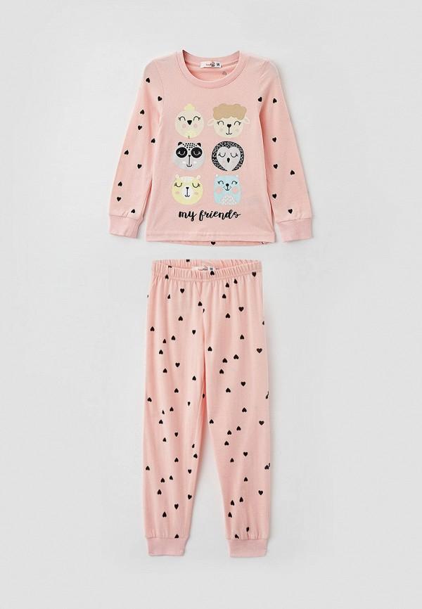 пижама roxyfoxy для девочки, розовая