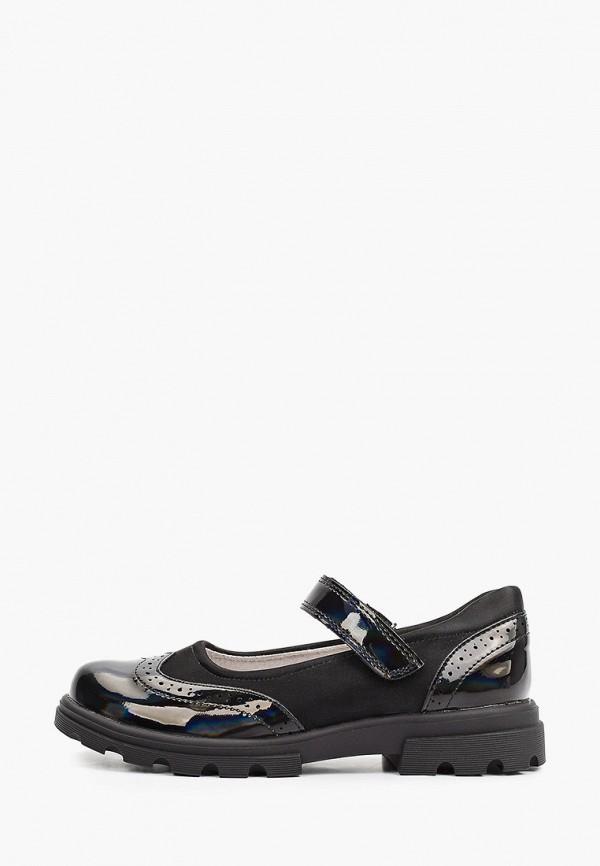 туфли капитошка для девочки, черные