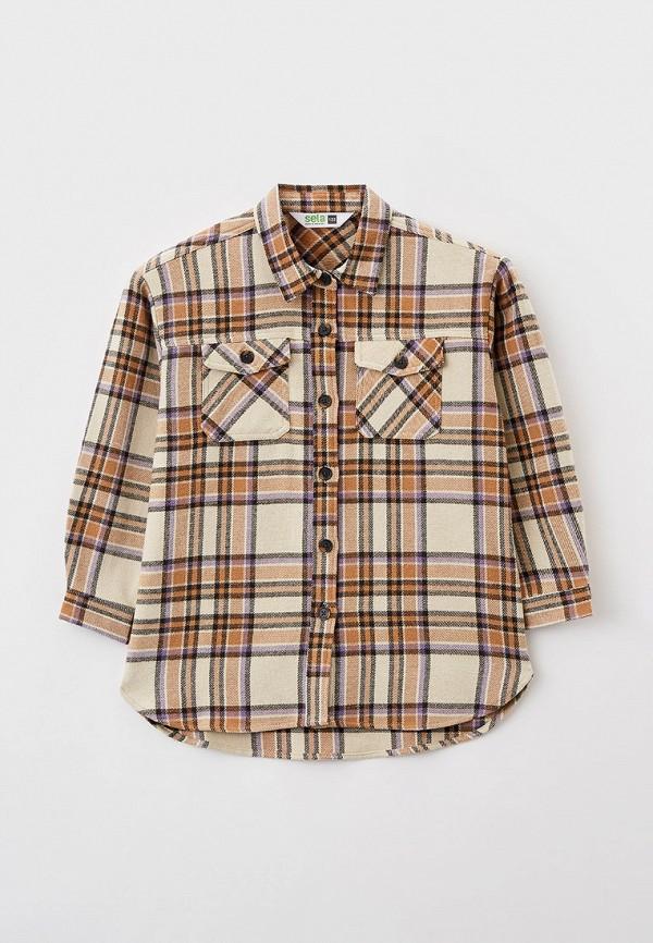 Рубашка Sela бежевого цвета