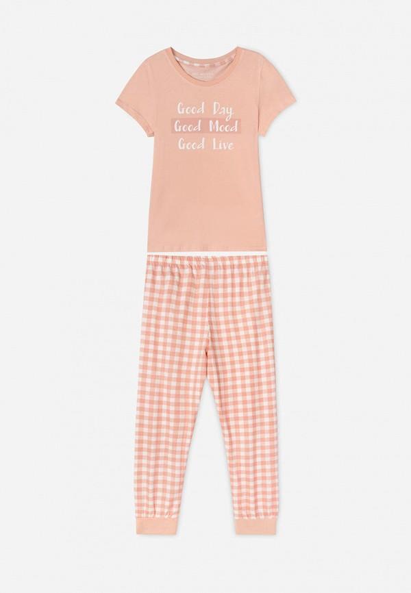 пижама gloria jeans для девочки, розовая