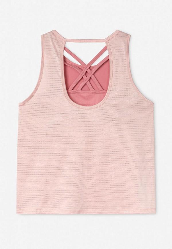 майка gloria jeans для девочки, розовая