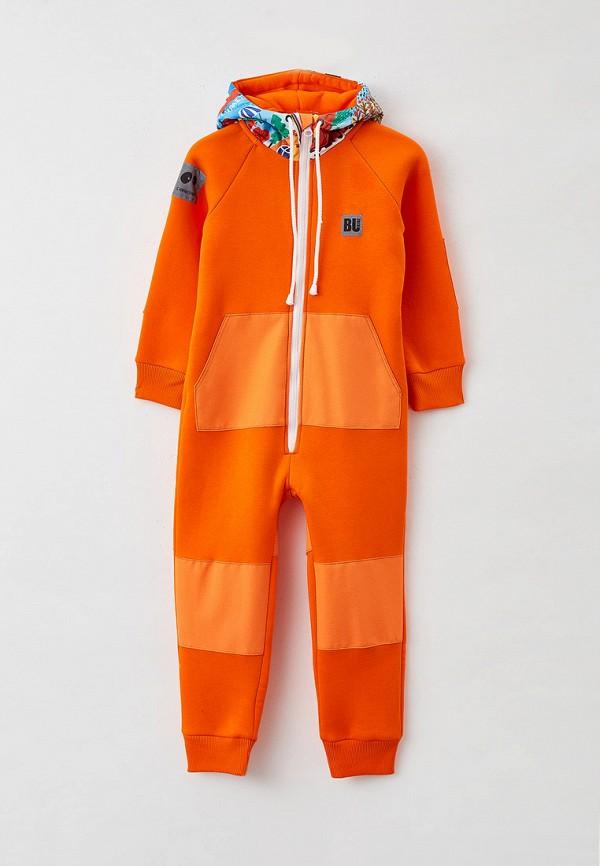 комбинезон с брюками bukidz для девочки, оранжевый