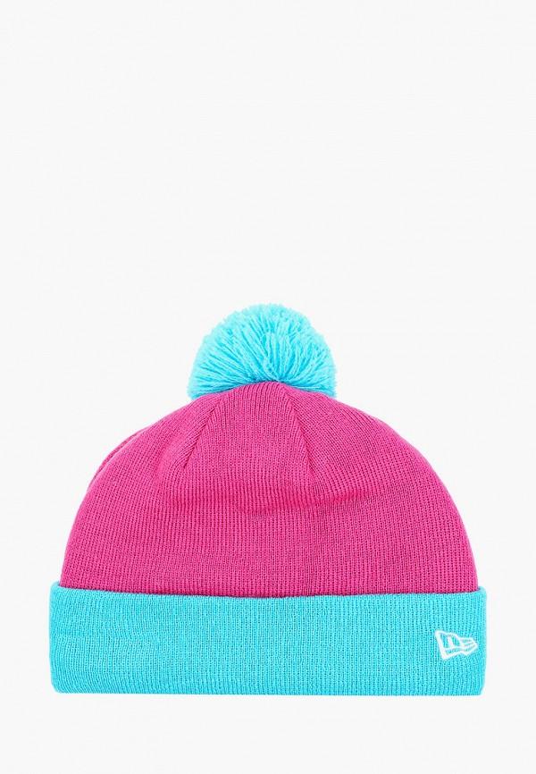 шапка new era для девочки, розовая
